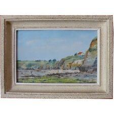 paysage côtier signé GAUTIER huile sur panneau encadrée