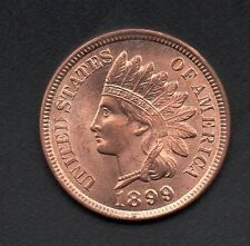 1899 RED Indian Head Cent Snow 6 Cherrypicker Mint Error *MS++++RED*!!!
