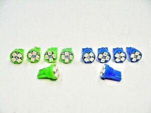 10 Lincoln Blue Green LED Turn Signal Hi-Beam Indicator Dash Light Bulb Lamp NOS