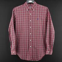 Mens Polo Ralph Lauren Classic Fit Plaids Oxford Golf Dress Shirt Size 14.5 S