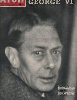 Paris Match Magazine February 16 1952 The Death of King George VI England