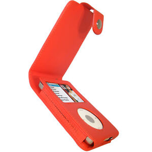Red PU Leather Case for Apple iPod Classic 80gb 120gb 160gb Cover Holder