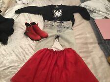 bundle of girls  age 7 Zara next top jeans skirt boots glitter trendy