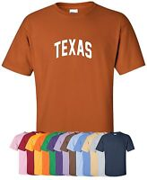 "New ""Texas"" T-Shirt S-4XL, 30+ Colors! lone star state longhorns cowboys texans"