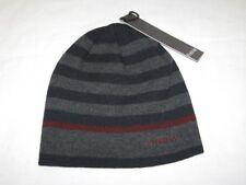 BNWT - FIRETRAP Striped Beanie Hat  Grey