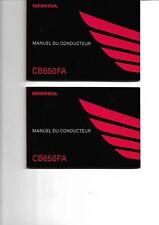 Manuel du conducteur Honda CB650FA de 2016,122 pages en Francais