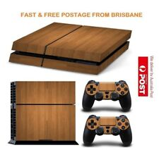 Wood PS4 Playstation 4 Decal Skin Sticker Brand New In Stock From Brisbane