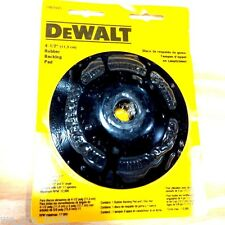 "New Dewalt 4-1/2"" Rubber Backing Pad Abrasive Sanding Disc Angle Grinder DW"