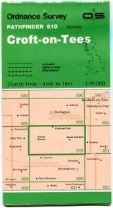 UK ORDNANCE SURVEY Pathfinder (1:25000) Map 610 - Croft-on-Tees, Great Smeaton