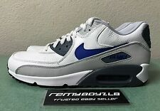 Nike Air Max 90 LTR Leather Summit White Lyon Blue Mens Sz 10.5 Running Shoes