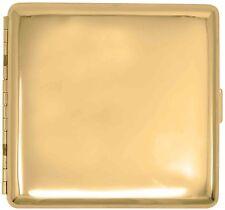 Gold Classic (Full Pack Kings) Metal-Plated Cigarette Case & Stash Box
