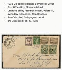 Galapagos Islands Cover Barrel Mail Post Office Bay 1938 Valero Research Vessel