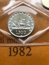 Moneta Fdc 500 Lire Argento Caravelle Italia 1982 Repubblica italiana Sigillata