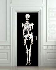 Door Wall or Fridge STICKER skeleton Halloween decole mural decal poster