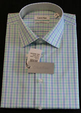 Calvin Klein Formal Shirt Size 42 Sleeve 92 Check Slim Fit Business CK New 1.2