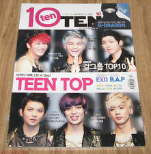 TENTEN 10TEN EXO B.A.P TEEN TOP NU'EST MBLAQ BTOB MAGAZINE 2013 OCT OCTOBER NEW