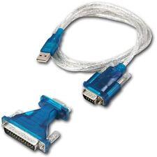 CAVO ADATTATORE USB SERIAL RS232 DB9 DB25 PORT PC NOTEBOOK COMPUTER 9-PIN