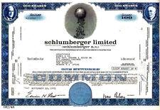 Schlumberger Limited Netherlands 1972 Stock Certificate