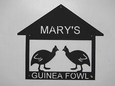 GUINEA FOWL METAL SIGN  ANY NAME NO CHARGE  EGGS FARM