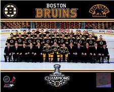 Boston Bruins 2011 Authentic Stanley Cup Champions Team 8x10 Color Photo NHL