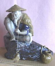 ORIENTAL - SHIWAN Chinese Mudman Fisherman on a Rock