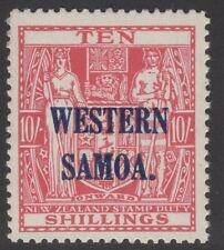 SAMOA SG209 1946 10/= CARMINE-LAKE MNH