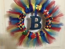 Autism Awareness Puzzle Piece Tulle Wreath