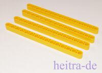 LEGO Technik - 4 x Liftarm dick 1x15 gelb / Yellow Liftarm Thick / 32278 NEUWARE
