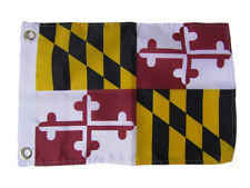 "12x18 12""x18"" State of Maryland Silk Nylon-Polyester Premium Flag Grommets (RAM)"