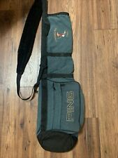 """VINTAGE PING SUNDAY Golf BAG -Green-2 Pockets - 5"""" top opening - 33"""" With Logo"""
