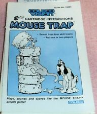 COLECO INSTRUCTION MANUAL only MOUSE TRAP Very Good Condition