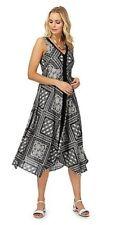 Debenhams The Collection Black Patch Print Dress Size UK 14 Lf084 GG 12