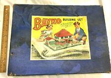 Bayko Building Construction Set Vintage 1950's #2 HTF Original Box Free Shipping