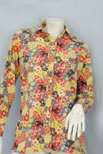 Vintage 60s-70s Patchwork Print Button Up Shirt