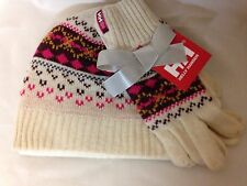 Helly Hansen Frost Heritage Set Beanie and Glove Eggshell NWT