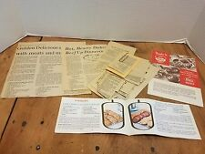 Recipe collection Clipped Brochures COOKING  Baking Chef