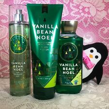 Bath and Body Work Vanilla Bean Noel Full Size Set Mist Body Cream Gel