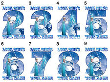 Frozen Elsa Personalised Birthday Number Age Iron On Transfers A4 A5 A6