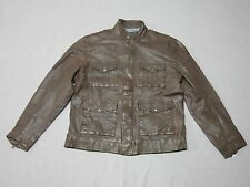 LUCKY BRAND BLACK LABEL MENS DARK BROWN LAMB LEATHER JACKET COAT SIZE XL NEW