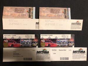 2003 Pepsi 400 At Daytona Lot Of 4 Ticket Stub NASCAR Race Greg Biffle Win