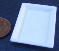 1:12 Scale Single White Plastic Tray Tumdee Dolls House Miniature Accessory LA10