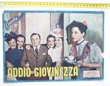R@R@ RIVISTA CINEVITA 1942 - ADDIO GIOVINEZZA- con MARIA DENIS e ADRIANO RIMOLDI