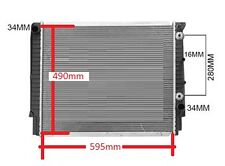 Radiator Volvo 960 s90 v90 1991-97 please check diagram 595mm(w) x 490mm(h) New
