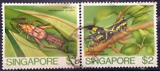Singapore Used Stamps - 2 pcs 1985 Insects