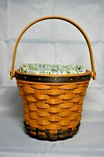 Longaberger 1999 Daisy Basket with Fabric Liner and Protecctor