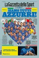 GAZZETTA DELLO SPORT 11/06/2021 SIAMO TUTTI AZZURRI NAZIONALE EUROPEI EURO 2020