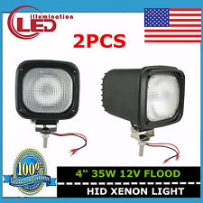 2X 4inch 35W 12V HID Xenon Work Light Flood ATV Off-road Fog 4X4 Truck UTE Black