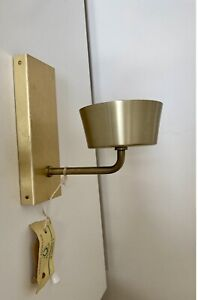 Vintage Retro Gold Coloured Metallic Mid Century Wall Light Sconce With Tags!!!!