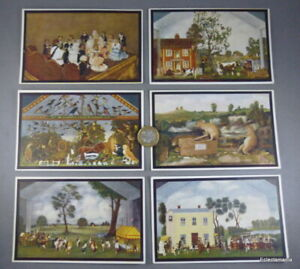 Group of 6 x Vintage POTTER'S MUSEUM Postcards - Taxidermy - Bramber, Sussex