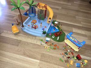 Playmobil 4858 Freibad Großer Pool Mit  Kiosk Xxl Zubehör